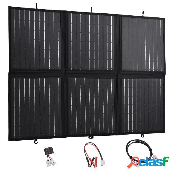 Vidaxl pannello solare carica batteria pieghevole 120w 12v