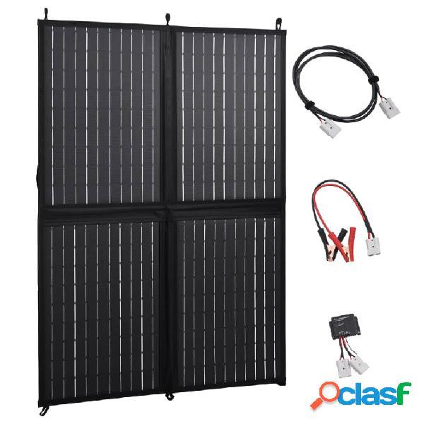 Vidaxl pannello solare carica batteria pieghevole 100w 12v