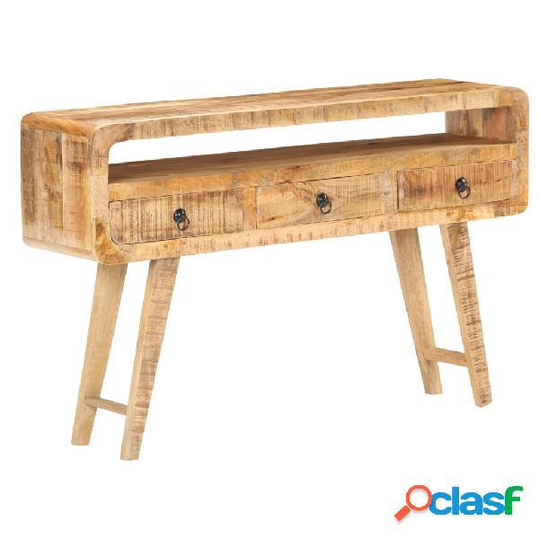 Vidaxl credenza 120x30x75 cm in legno massello di mango grezzo