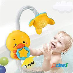 Giocattolo per la testa della doccia da bagno per bambini - vasca da bagno elettrica con getto d'acqua giocattolo giochi d'acqua irrigatore regolabile due modalità di spruzzatura regali di co