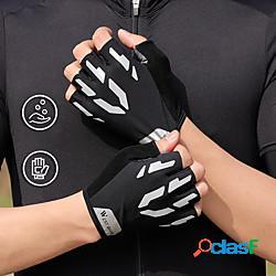 Guanti da ciclismo riflessivo asciugatura rapida traspirante sfregamento ridotto senza dita guanti sport licra nero per per adulto attività all'aperto ciclismo / bicicletta lightinthebox