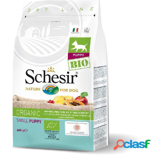 Schesir bio - schesir dog bio organic puppy al pollo per cuccioli di taglia piccola confezione da 600 gr pollo puppy
