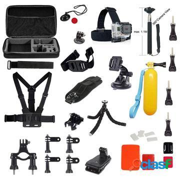 Kit accessori da 39-in-1 con selfie stick per gopro e action camera