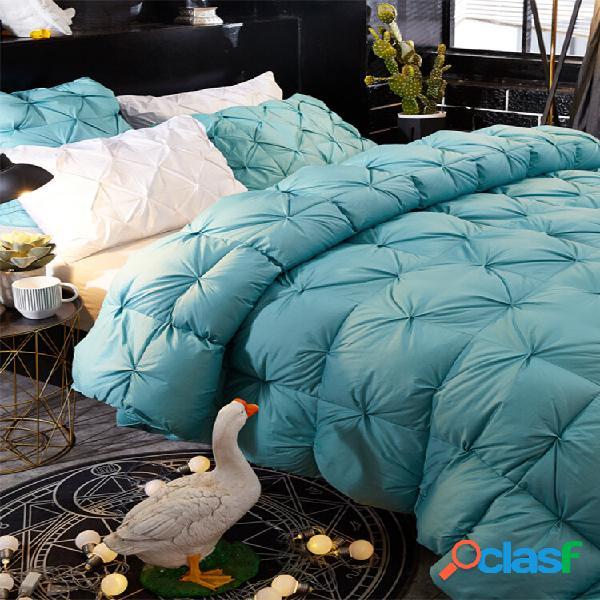 Piumino in piuma d'oca bianca copripiumino grande trapunta copripiumino invernale completo con letto queen size