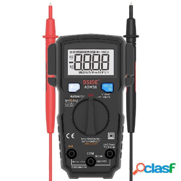 Bside adms6 digital 6000 conteggi multimetro rms true tester multimetro ad autoranging con test v-alert