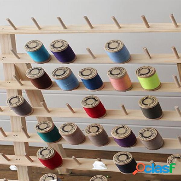 Ricamo da cucito con filo piegato in legno da 120 bobine stand holder organizzatore