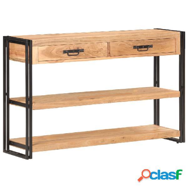 Vidaxl credenza 120x30x75 cm in legno massello di acacia