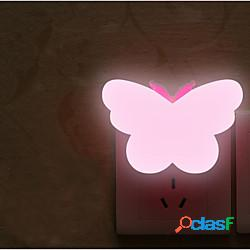 Luce notturna a led sensore di controllo mini farfalla scuro camera da letto per bambini comodino lampada per bambini luce notturna lightinthebox