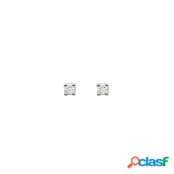 Orecchini visconti punto luce in oro bianco con diamante - 22798*0636b1