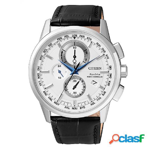 Orologio cronografo citizen eco drive da uomo in acciaio - h804 - at8110-11a