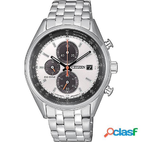 Orologio citizen eco drive cronografo in acciaio - crono - ca0451-89a