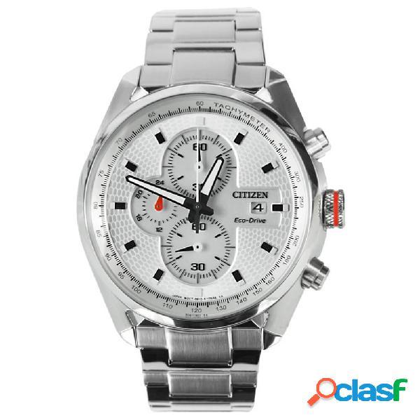 Orologio citizen cronografo in acciaio eco drive - crono - ca0360-58a