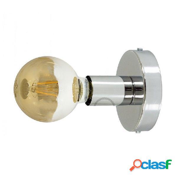 Punto luce a soffitto e/o a parete con attacco e27 cromo ludido geapm1cr