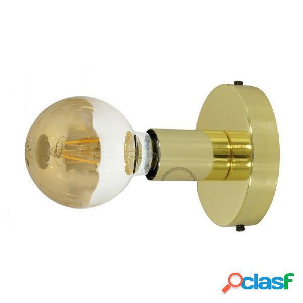 Punto luce a soffitto e/o a parete con attacco e27 oro geapm1go