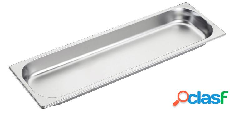 Bacinella in acciaio inox GN2/4 L 530 mm x P 162 mm x H 40 mm