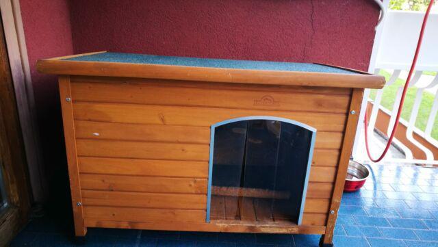 Cuccia in legno da esterno coibentata, per cani taglia