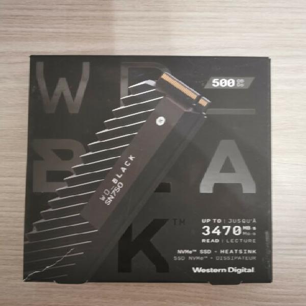 Hard disk ssd 500gb nvme western digital black sn750 nuovo