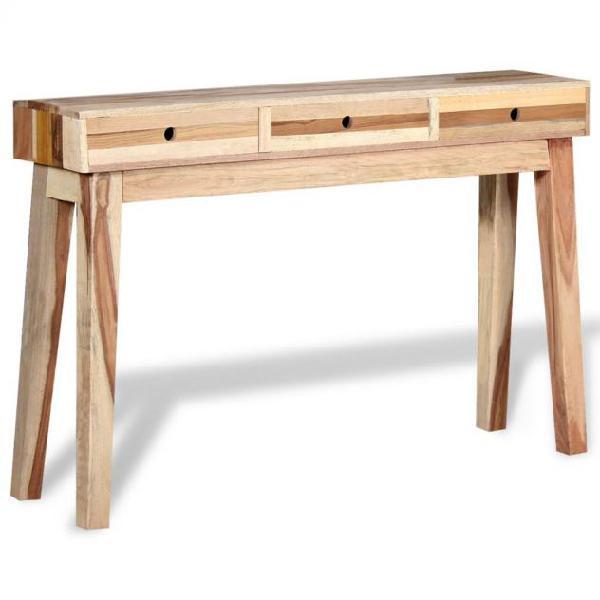 Vidaxl tavolo consolle in legno massello recuperato