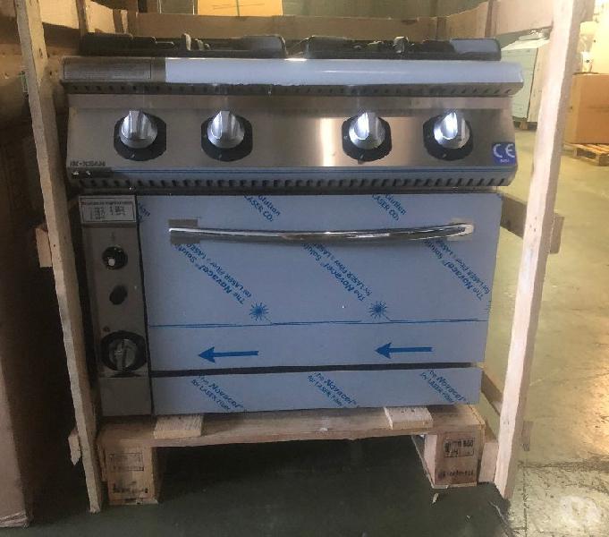 Cucina 4 fuochi con forno - a gas - lunghezza 800 mm serie70 napoli