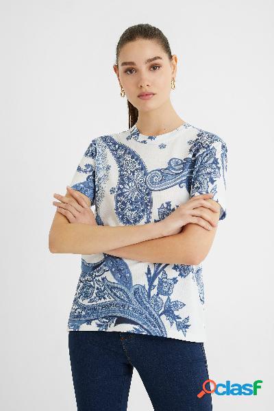 Maglietta manica corta paisley - blue - m