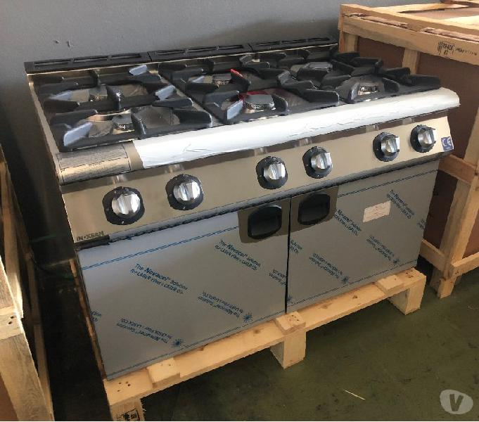 Cucina 6 fuochi - a gas - lunghezza 1200 mm - serie 900 cosenza