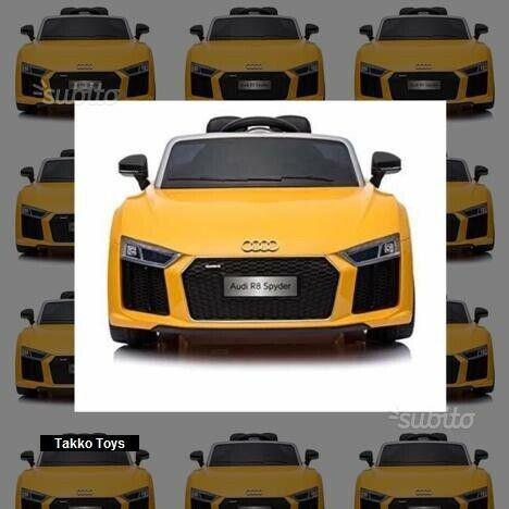 Auto macchina elettrica r8 gialla (passo piccolo)