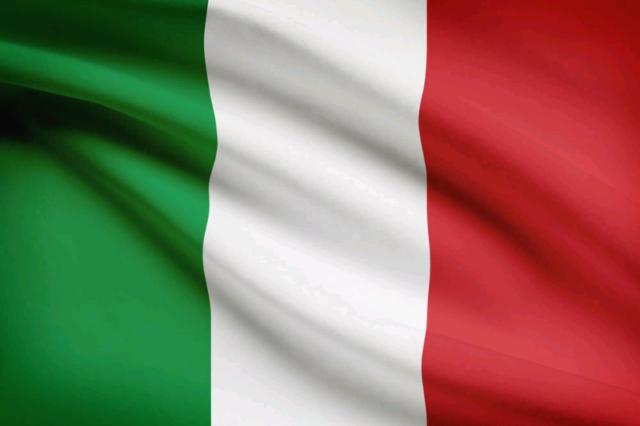 Bandiera italia e gadget nazionale italiana