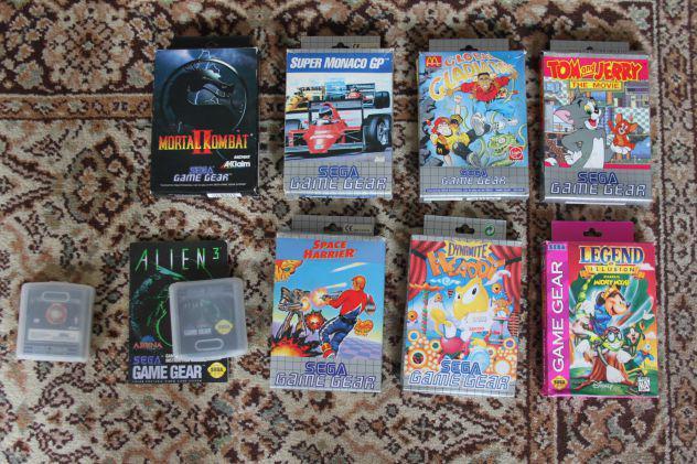 Videogiochi sega game gear giochi con scatola anni 90