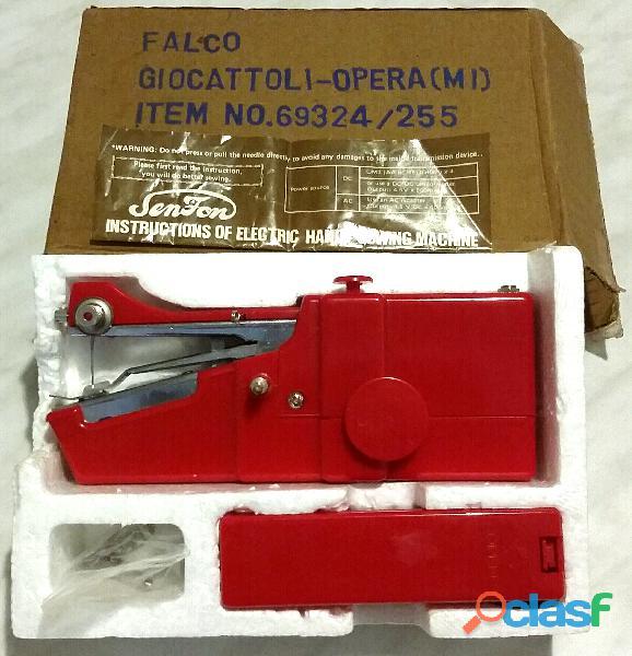 Mini macchina da cucire elettrica portatile falco milano made in italy nuova