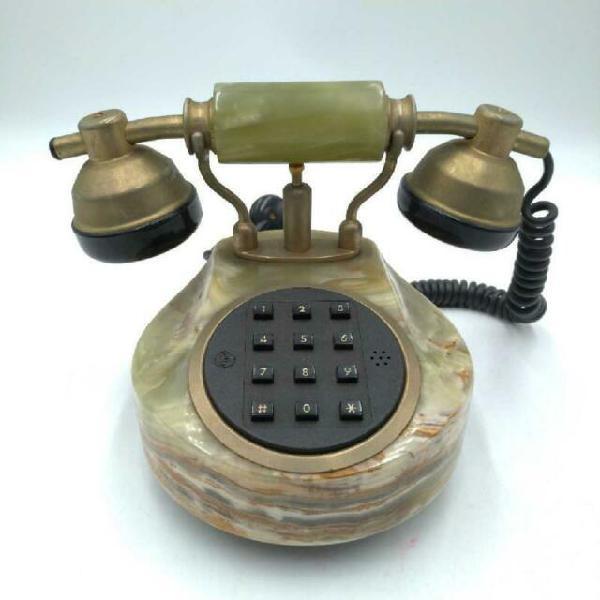 Telefono da tavolo stile vintage onice verde
