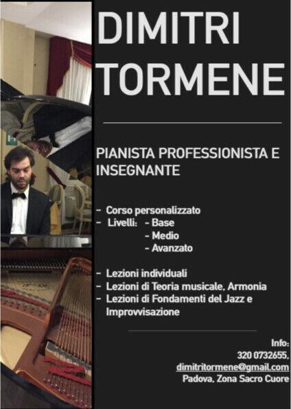 Lezioni di pianoforte classico e/o improvvisazione jazz.