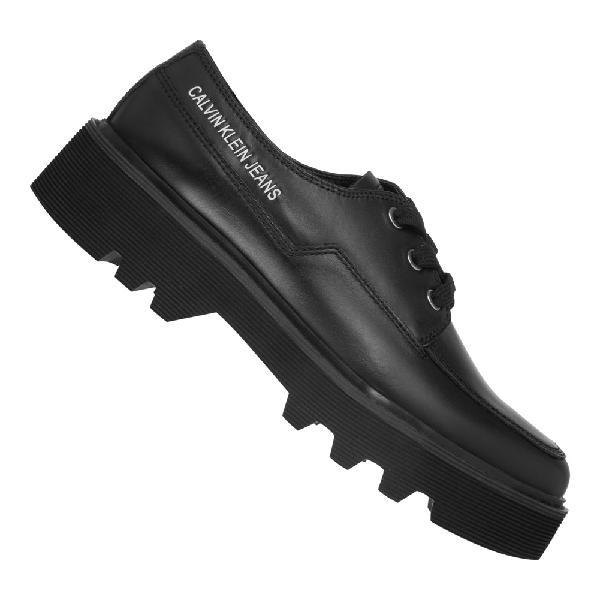 Calvin klein jeans luisa shiny calf donna scarpe r0749blk