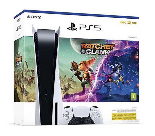Sony playstation 5 (ps5) - con lettore e gioco ratchet e