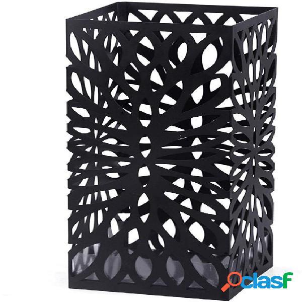 Moderno portaombrelli intagliato nero quadrato