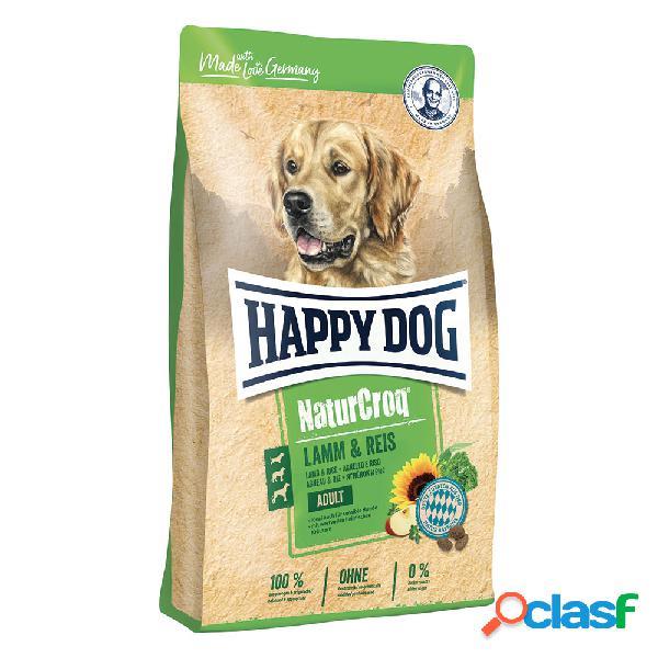 Happy dog naturcroq agnello & riso 12 kg
