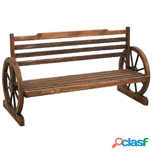 Vidaxl panchina da giardino 142 cm in legno massello di abete