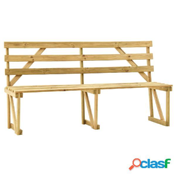 Vidaxl panchina da giardino 170 cm in legno di pino impregnato