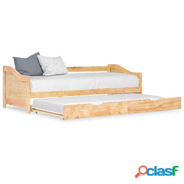Vidaxl divano letto a scomparsa in legno di pino 90x200 cm
