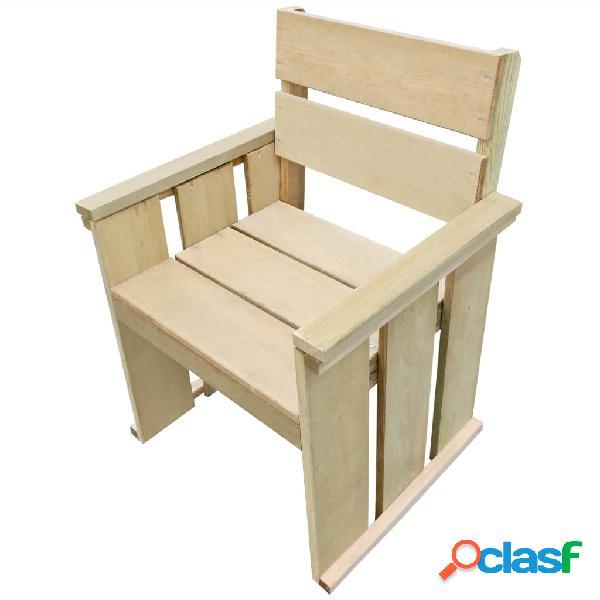 Vidaxl sedia da esterno in legno di pino impregnato