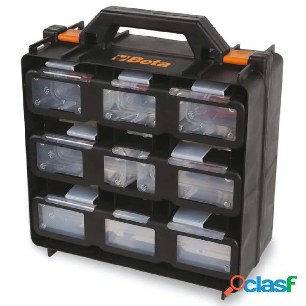 Beta tools cassetta portautensili organizer con 12 vassoi rimovibili