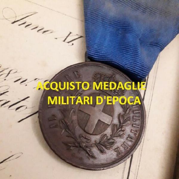 Acquisto medaglie e divise militari d'epoca, onorificenze