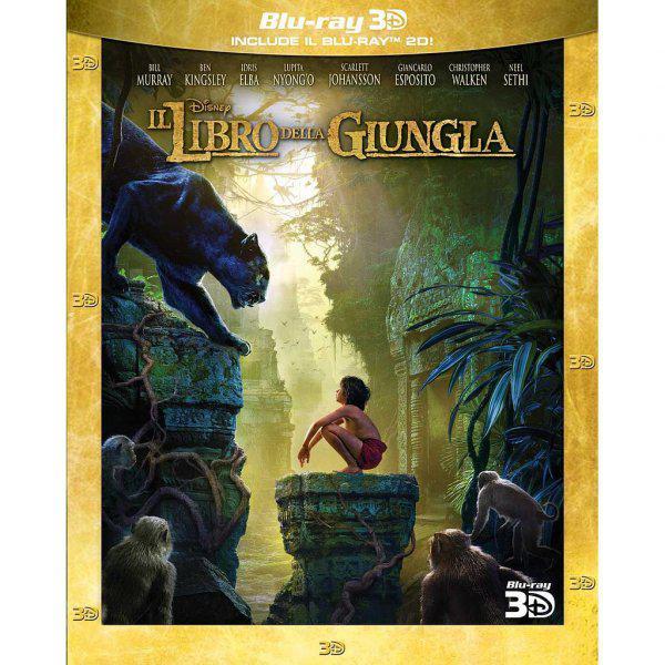 Libro della giungla (il) - live action (3d) (blu-ray