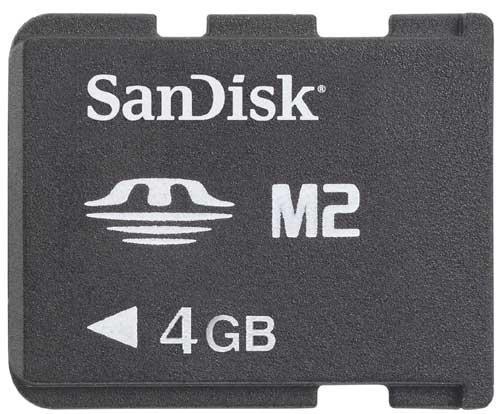 Sandisk - memory stick micro m2 4gb psp go!