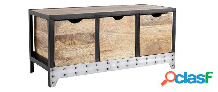 Cassettiera / scarpiera in legno e metallo ATELIER
