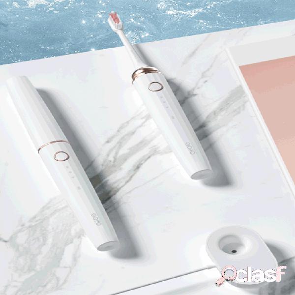 Mini spazzolino elettrico portatile sonico 3 modalità di ricarica wireless impermeabile da