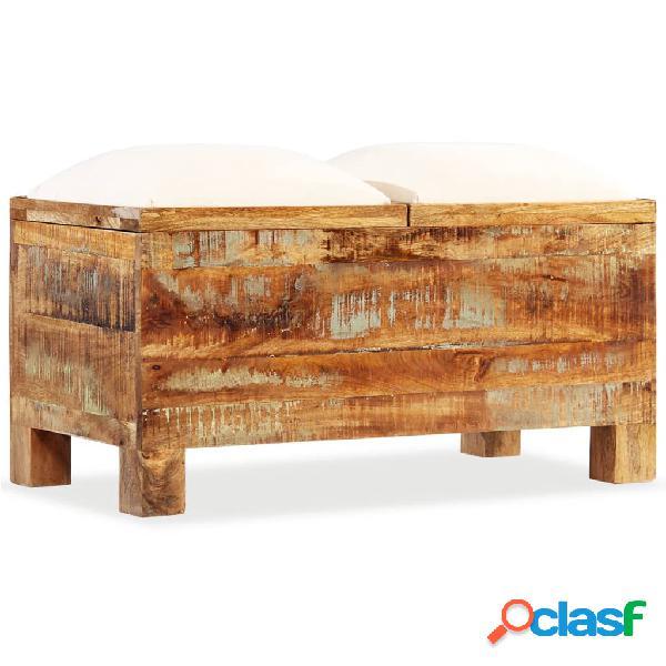 Vidaxl cassapanca in legno massello di recupero 40x40x40 cm