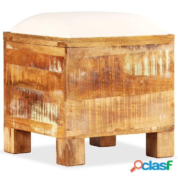 Vidaxl cassapanca in legno massello di recupero 40x40x45 cm