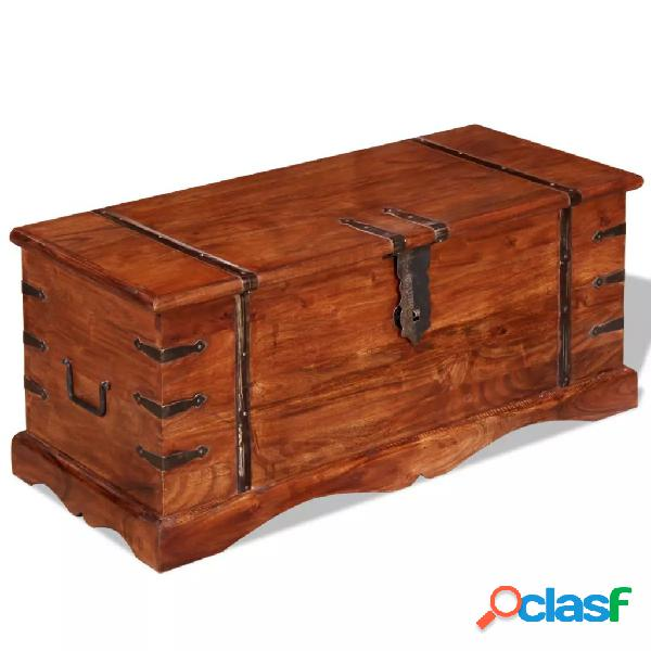 Vidaxl cassapanca in legno massello