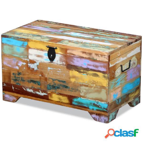 Vidaxl cassapanca in legno massello anticato