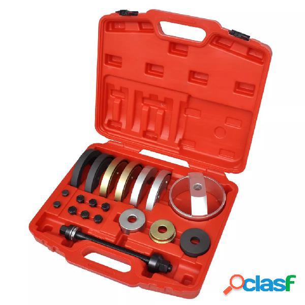 Vidaxl set 19 pz strumenti per unità compatta mozzo ruota 62 mm, 66 mm, 72 mm